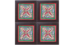 iMithila Madhubani Wooden Coasters Set of 4
