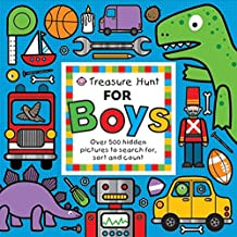Treasure Hunt for Boys: Over 500 Hidden Pictures to Search For, Sort and Count (Priddy Books Big Ideas for Little People)