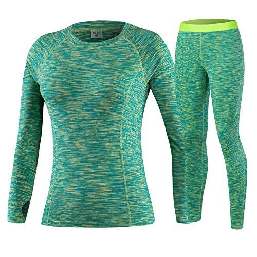 De Yoga pour femme Définit Fitness Sportswear Convient à manches longues Yoga Chemise Course à Pied Gym Yoga Dessus et élastique fin Pantalon violet