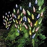HOMYY Solarleuchten Baum Blätter Form Lampe, 3 Stück 60 LEDs, Stilvolle Fee, dekorative Dekoration für den Außenbereich, Garten, Rasen, Terrasse, Terrassendielen