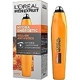 L'Oréal Paris Men Expert Hydra Energetic, Roll-On Occhi Anti-Fatica, Con Estratto di Guaranà e Vitamina C, 10 ml