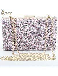 Women Clutch Evening Bag Camouflage Shiny Wedding Party Fashion Handbags Chain Shoulder Bag Messenger Bags Box... - B07GS8LFW7
