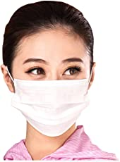 Neon Disposable 3 ply Air Pollution White Face Mask 100 Pcs (White)