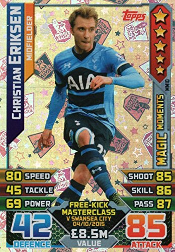 15/2016 Eriksen Magic Moments Karte (Eriksen Match Attax)