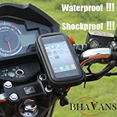 BHAVANS Waterproof Mobile GPS Holder Stand for Bike Bicycle Motorcycle with 360 Degree Rotation for Screen Size Upto 6 Inches