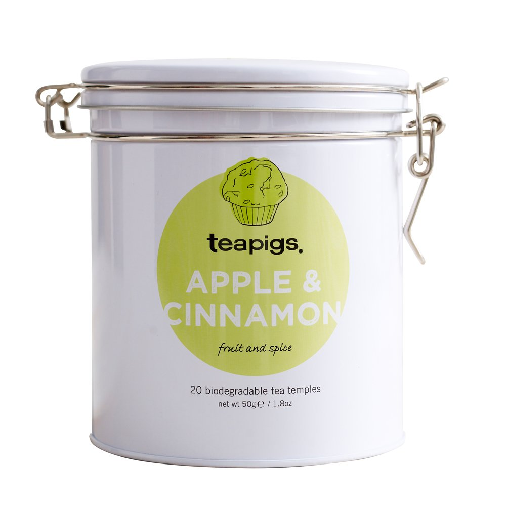 Teapigs apple and cinnamon tea (infusions) (20 bags) (a fruity, spicy tea with aromas of apple, cinnamon) (brews in 3 minutes)
