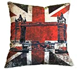 Kissenhülle Union Jack England Tower Bridge Kissen Dekokissen (45 cm x 45 cm)