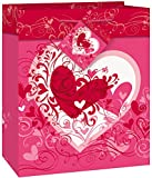 Unique Party 64414 - Small Tangled Hearts Valentines Gift Bag