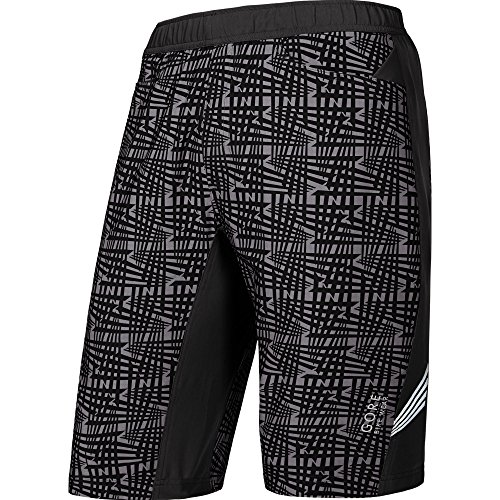 GORE WEAR Herren Shorts Element Print 2-in-1 Black, M