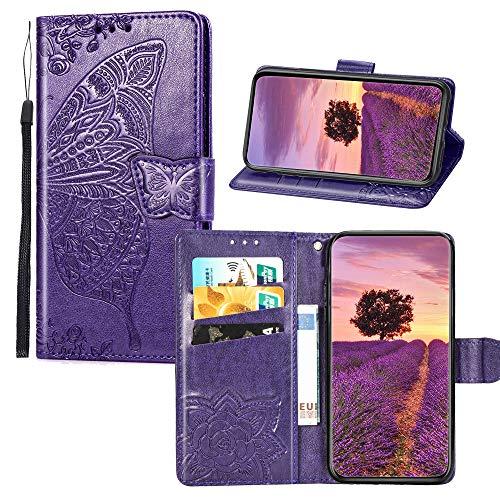 4c72890f4cc BestCatgift Q60 PU Leather Flip Wallet Custodia [Embossed Series Butterfly  & Flower] Phone Accessories