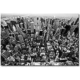 Poster New York --- Skyline Manhattan NY USA Amerkia Wolkenkratzer --- Plakat schwarz weiss