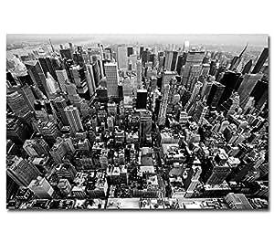 poster new york skyline manhattan ny usa amerkia wolkenkratzer plakat schwarz weiss. Black Bedroom Furniture Sets. Home Design Ideas