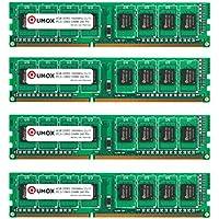 QUMOX DIMM DDR3 16GB (4x 4GB) PC3-12800 1600MHz 1600 (240 PIN) para computadora escritorio PC