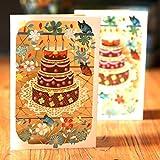 ECMQS Grusskarten Handmade Geburtstag Hochzeitseinladung 3D Pop Up Karte Blume Neu
