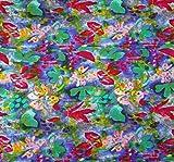 Blaue Blumen Indische Dekorative Baumwolle Nicht
