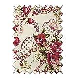 RAYHER 53747000 Baumwoll- Stoff, Rosen - Sträuße, 100 x
