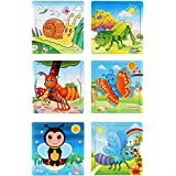 Akrobo Wooden Jigsaw Puzzle For Kids, Insect Theme ( 9 Piece Per Puzzle, 6 Puzzle )
