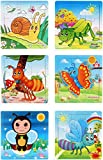 #3: Akrobo wooden Jigsaw puzzle for kids, Insect Theme ( 9 Piece per puzzle, 6 Puzzle )