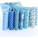 7 cintas azules algodon costura, scrapbooking, vestidos, toallas, canastillas .. 1m x 5 cm. de OPEN BUY