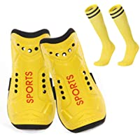 Homo Trends Football Shin Pads, 3 Sizes Soccer Shin Guards Socks, Shin Pads Boys, Kids Football Socks for Boys And Girls…