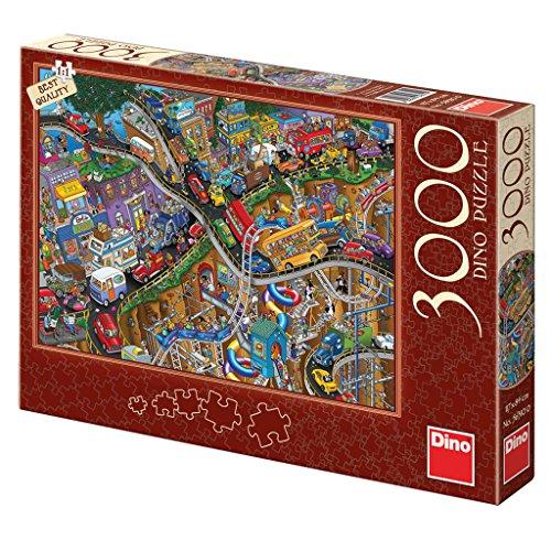 Dinotoys 563100 Hoher Qualität Puzzle;Verrückte Fahrt, 3000 Stück Verrückte Fahrt