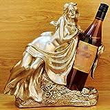 LD&P Resina artigianale bottiglia di bellezza in stile europeo azienda vino rack home artigianato ornamenti business creativo hotel bar arredamento decorazione,Gold,32.5*16.7*35CM
