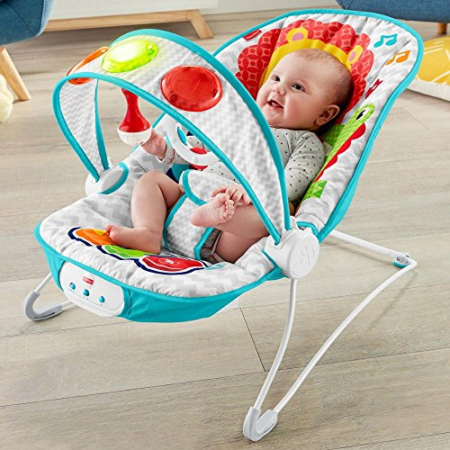 Fisher-Price: Babywippe Piano Licht Musik Vibration FTX89 Babyschaukel Multifunktions Wipper