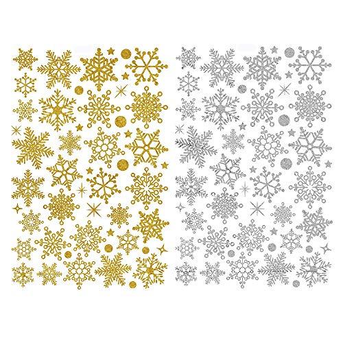 Deggodech Navidad Copos Nieve Decoracion Pegatinas