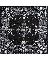 Schwarz Skull Bandana aus 100% Baumwolle