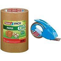 Tesa 55337-00002-01 Paper ecoLogo Ruban adhésif d'emballage 3 x 50:50 Marron & leur Manuel Pack'n'go Ergonomique pour…