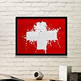 DIYthinker Schweiz Abstrakte Flagge Muster Einfache Bilderrahmen Kunstdrucke Malereien Startseite Wandtattoo Geschenk Medium Schwarz