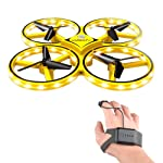 Interactive Watch Induction Drone for Kids Adult, LED Lighting Gesture Remote Control Four-axis Aircraft RC Quadcopter...