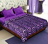 #3: Story@Home Coral Soft Printed Polyester Double Blanket - Purple