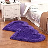 Brand New Hand loom Modern Stone 5D shaggy Double Heart rugs and carpets for living room, hall, Non slip Decorative for baby room