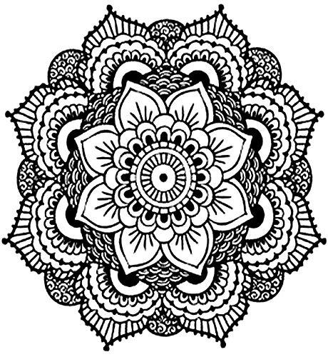 Tatuajes temporales de mandala rosetón floral para hombre y mujer, tatuaje temporal, 21 x 15 cm