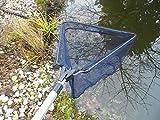 Laub Kescher Fischkescher für Teich und Pool Alu Teleskop 2,40cm Faltbar