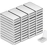 Neodymium magneten Wukong, 20 x 10 x 3 mm mini magneten 40 stuks rechthoekige bakstenen voor whiteboard magneetbord magneetst