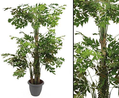 Fishtail-Palmbaum Kunstbaum mit drei Stämme Höhe ca. 295cm – Kunstpflanze Palmen