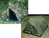 2 Personen Zelt »Ranger« mit Boden und Moskitoschutz BW-Flecktarn Oliv