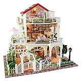 Ausomely Maison De Bricolage 3d Diy Dollhouse Avec Lumière LED, Kit Maison Miniature De Poupée Maison Toujours La Saint-Valentin Maison De Luxe 3 Couches - Surprise Sur L'amour...