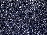 3D Rüschen Grenze Chiffon Kleid Stoff, Marineblau,