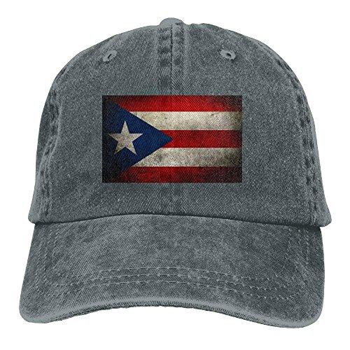 deyhfef Baseball Cap für Männer und Frauen, Retro Puerto Rican Flag Design und Verstellbarer Verschluss hinten Trucker Hat Unisex -