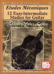 Mel Bay Etudes Mecaniques: 12 Easy Intermediate Studies for Guitar by Stanley Yates (2001-09-28)
