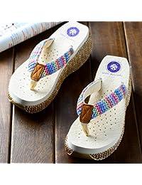 Señoras verano nueva moda zapatillas sandalias de playa deslizante femenino para 18-40 años de edad ( Color : #3 , Tamaño : EU36/UK4/CN36 )