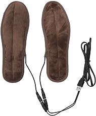 OUNONA Paar Beheizbare Einlegesohlen USB Winter Warm Schuheinlage - Größe 43-44