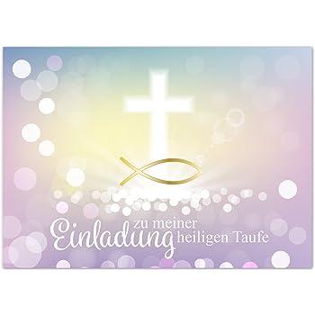 15 X Einladung Zur Taufeeinladungskarten Mit Umschlag Im
