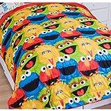 3pc Sesame Street Full Comforter Pillow Shams Set Elmo Chalk Bedding
