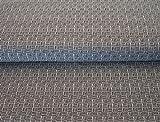 Jersey Biojersey Stenzo Quadrat Striche weiß schwarz 1,50m