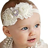 Miugle Baby Girl Shabby Chic Headbands With Bows