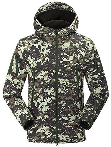 Mountaineers Herren Winddichte Softshelljacke Military Special Ops Taktische Jacke Fleece Mantel für Bergsteigen, Wandern, Paintball, Herren, ACU Digital Camo, (US) M-(CN) XL - Acu Mantel